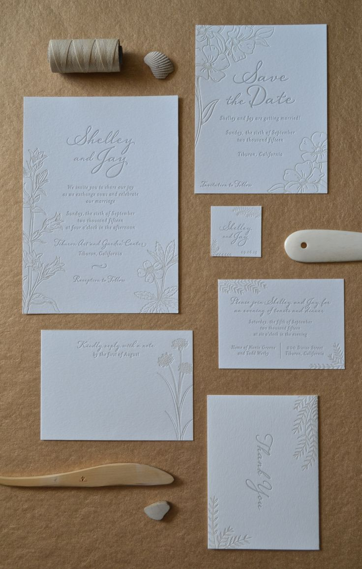 26 Best Two Color Letterpress Wedding Invitations Images On
