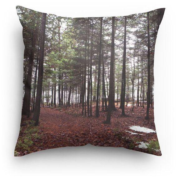 Personnalisé oreiller-forêt Throw pillow-deux faces-foggy forest hiver-oreiller oreiller personnalisé jet oreiller pour utilisation à la maison et décoration de meubles !