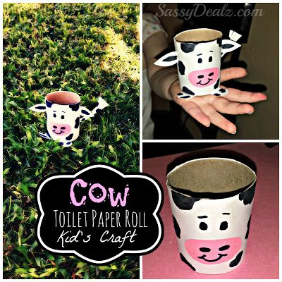 DIY: Cow Toilet Paper Roll Craft For Kids (Great for a Down on the Farm Activity!) Toilet Paper Tube art project | http://www.sassydealz.com/2013/09/diy-cow-toilet-paper-roll-craft-for.html