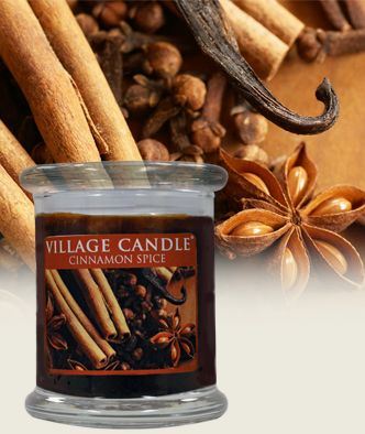 Cinnamon E New Gl Pillar Collection Scented Candles Village Candle