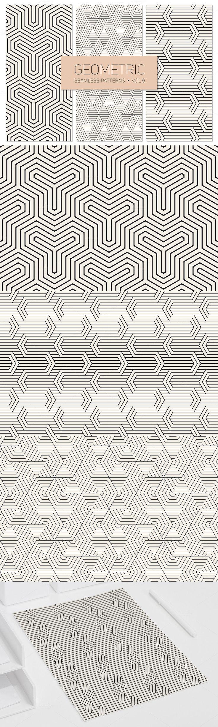 #Free #Geometric Seamless #Patterns  ( #creative #printable #vector #illustrations #art #freebies )