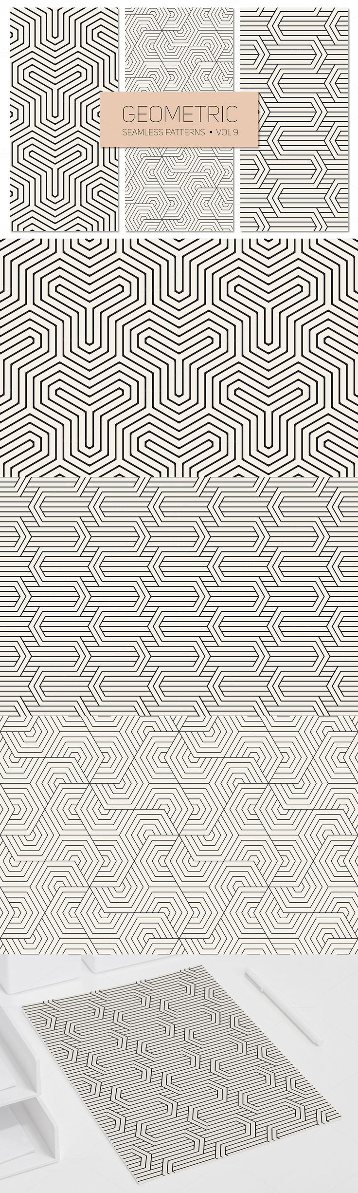 #Free #Geometric Seamless #Patterns