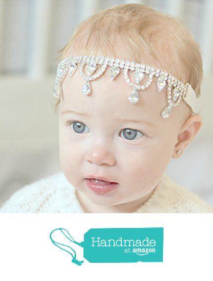 Baby Headband Beaded Headband Rhinestone Headband Crystal Headband Baby Girl Headband Flower Girl Headband Jewelled Headband from Allure Designs http://www.amazon.com/dp/B016BY91QC/ref=hnd_sw_r_pi_dp_ocWfwb02Y82NV #handmadeatamazon