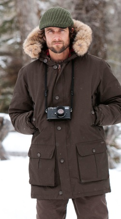 Nothing Beats Winter like Woolrich. Arctic Parka, Men's Conquest Pants, Cable-Knit Ivy Cap. #woolrichwinter
