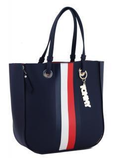 1c0287d469 Tommy Hilfiger Twist wendbarer Shopper Navy rot Streifen blau ...