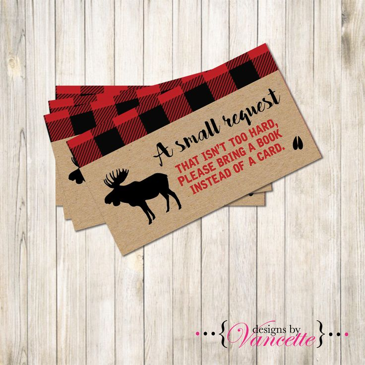 Lumberjack Book Request Insert, Lumberjack Baby Shower Insert, Lumberjack Party, Book Request Insert, Lumberjack Insert by designsbyVancette on Etsy