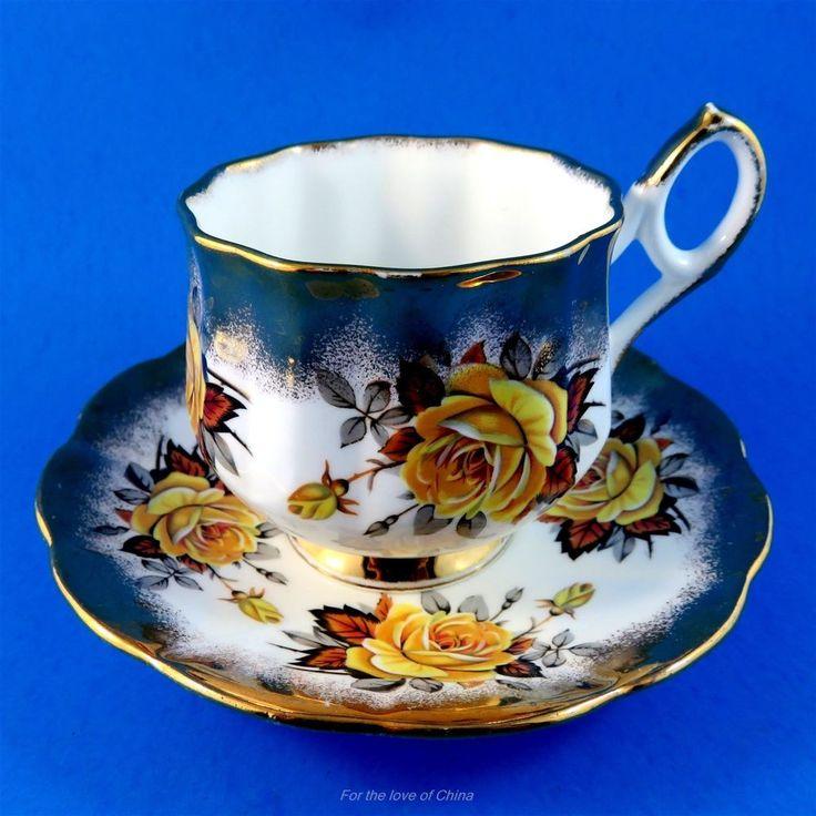 Beautiful Elizabethan Yellow Tea Rose Tea Cup and Saucer Set | Antiques, Decorative Arts, Ceramics & Porcelain | eBay!