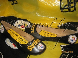 pitsburgh steeler ballet slippers | Ladies Pittsburgh Steelers Shoes Flats | eBay
