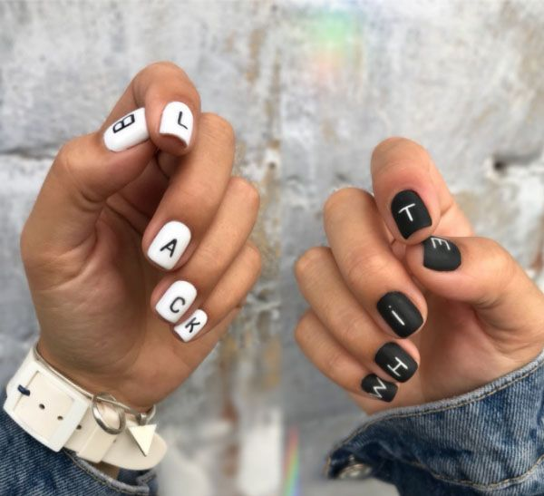Letter Nail Design How Fashion Nails Design To Please Their Marigolds This Fall And What Stylish Novelties Winter Nail Designs Nail Designs Fall Nail Designs