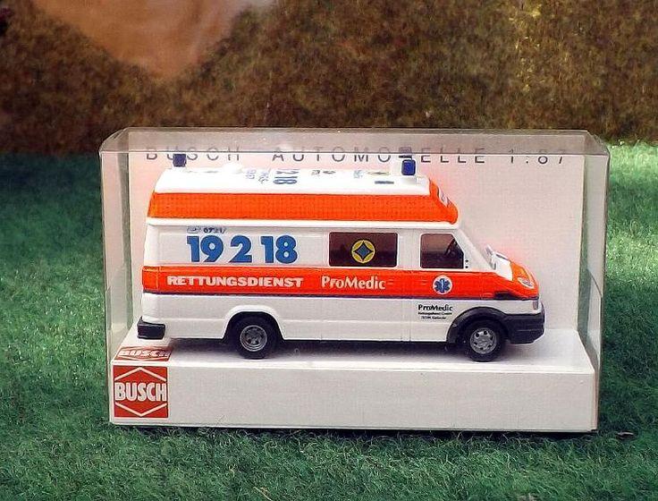 """Busch Modellauto 47907 """"Iveco Daily ProMedic"""" in OVP wie neu"""