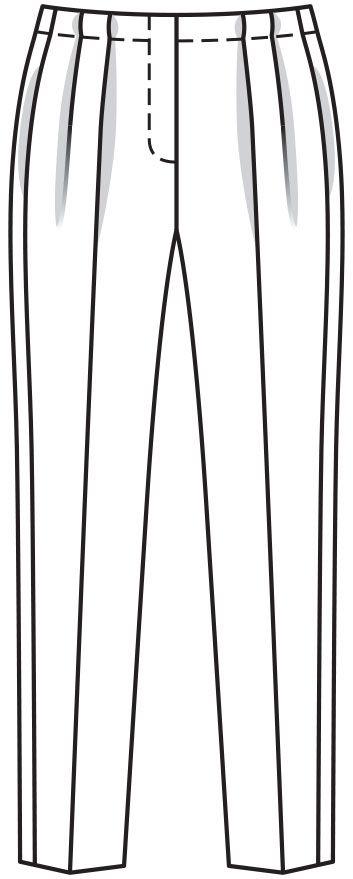 Burdastyle 01-2016-121 pleated narrow leg trousers 17-21