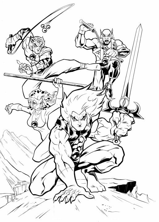 20 best models sheets thundercats images on pinterest for Coloring pages thundercats