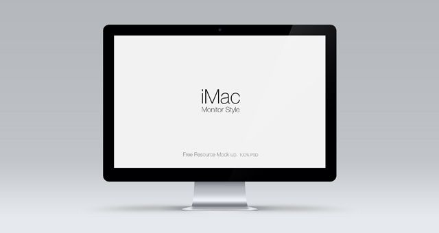 iMac clean mockup http://www.pixeden.com/psd-mock-up-templates/cinema-display-psd-mockup