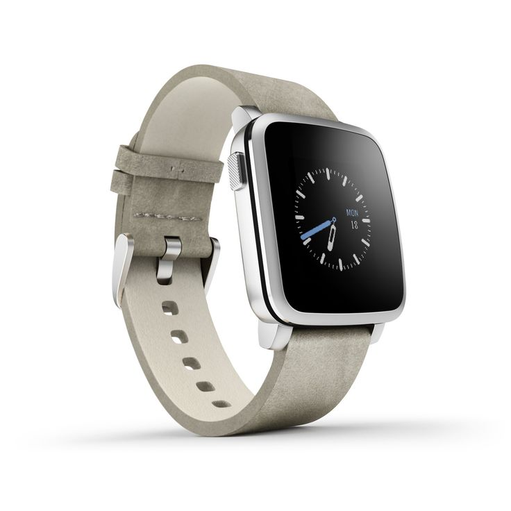 Pebble Time Steel Smartwatch - Silver: Amazon.co.uk: Electronics