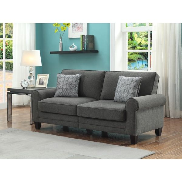 Best Online Sofa Store: Serta RTA Somerset Collection Vivendo Grey 73-inch Sofa