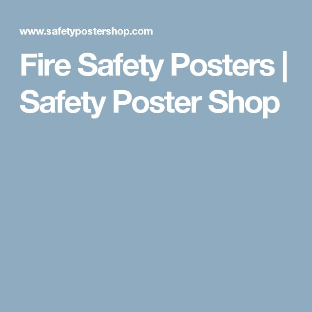 Fire Safety Posters   Safety Poster Shop