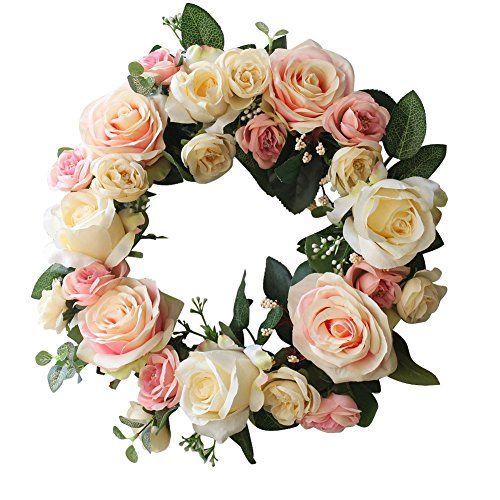 Rose Wreath Home Wall Decor Wedding Decorations ** Final call for this special discount  : Christmas Home Decor