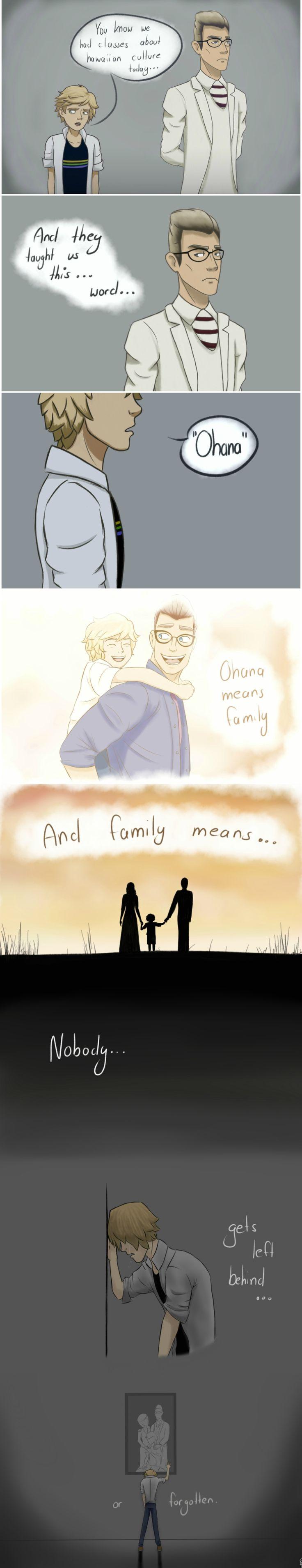 """Ohana means family by PeruGirl199 on DeviantArt  Sabes que hoy he tenido clases de cultura hawaiana... Y me enseñaron una nueva... Palabra... """"Ohana"""" Ohana significa familia. Y familia significa... Que nadie... Se aparta del medio... Y olvidarlo"""