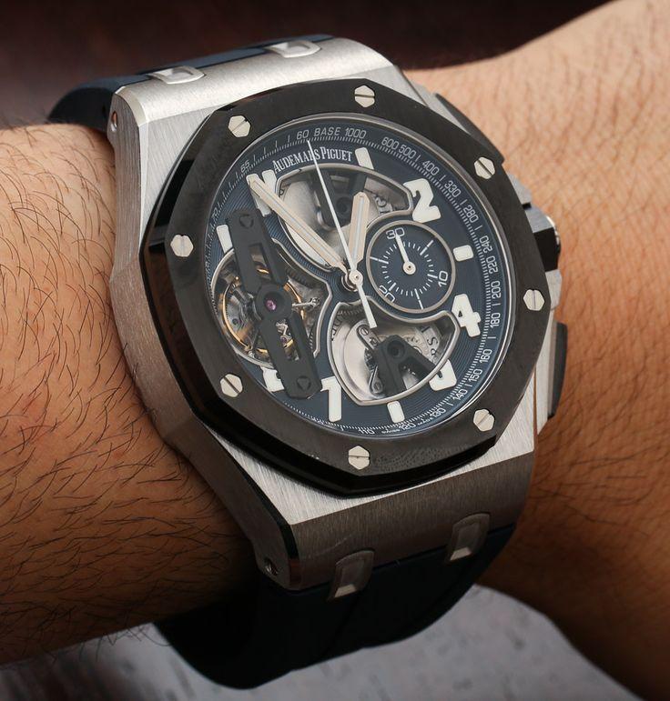 Audemars Piguet Royal Oak Offshore Tourbillon Chronograph Watch In Platinum Hands-On