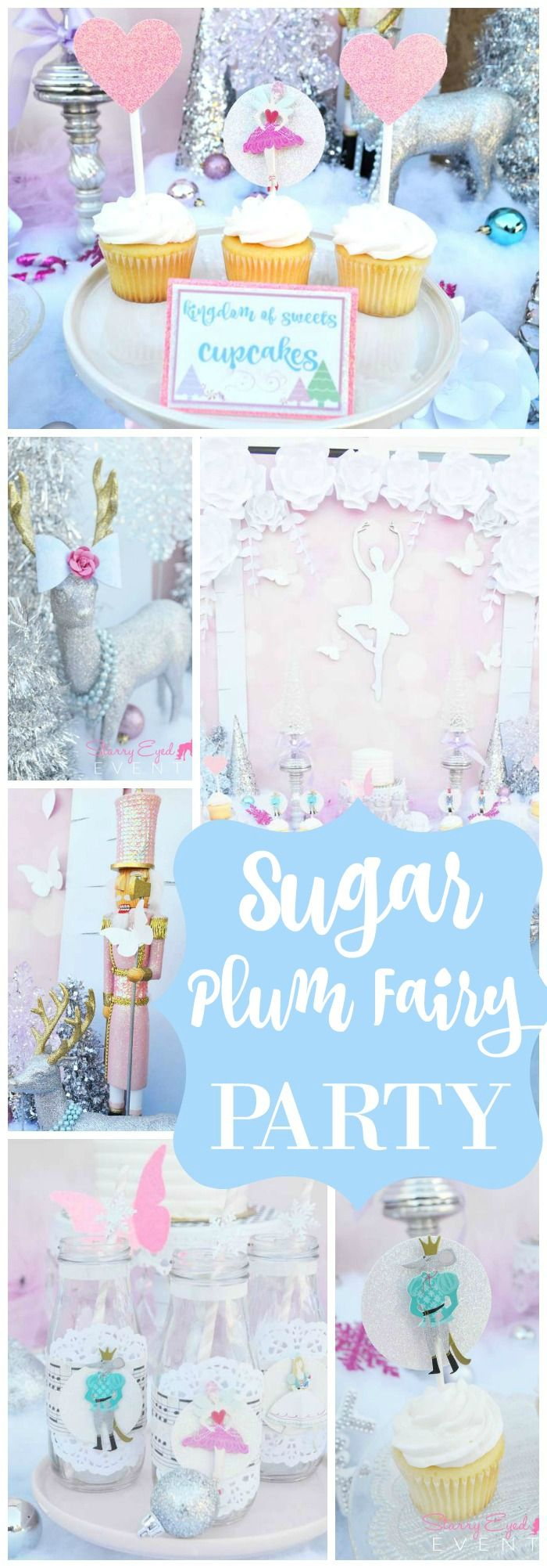 How gorgeous is this Sugar Plum Fairy Nutcracker party?! See more party ideas at CatchMyParty.com!