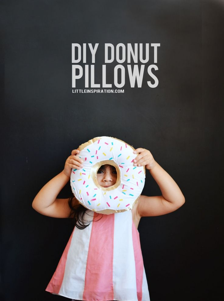 DIY Donut Pillows - a perfect prop for a birthday party or just because!