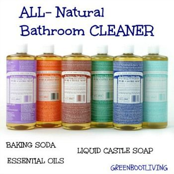 This is an easy to make all natural bathroom cleaner.  3 Ingredients!