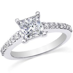 cartier engagement rings | Cartier Inspired Princess Cut Asha Engagement Ring [eng682] - $0.00 ...