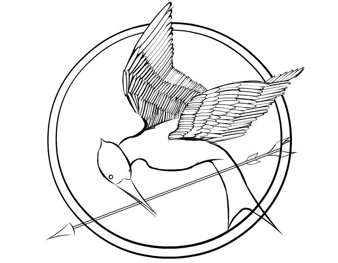 hunger games mockingjay coloring page bing images