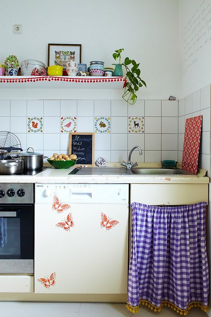 On pinterest plate racks modern cabinets and traditional kitchens - 17 Best Images About Decorating Curtains On Cupboards