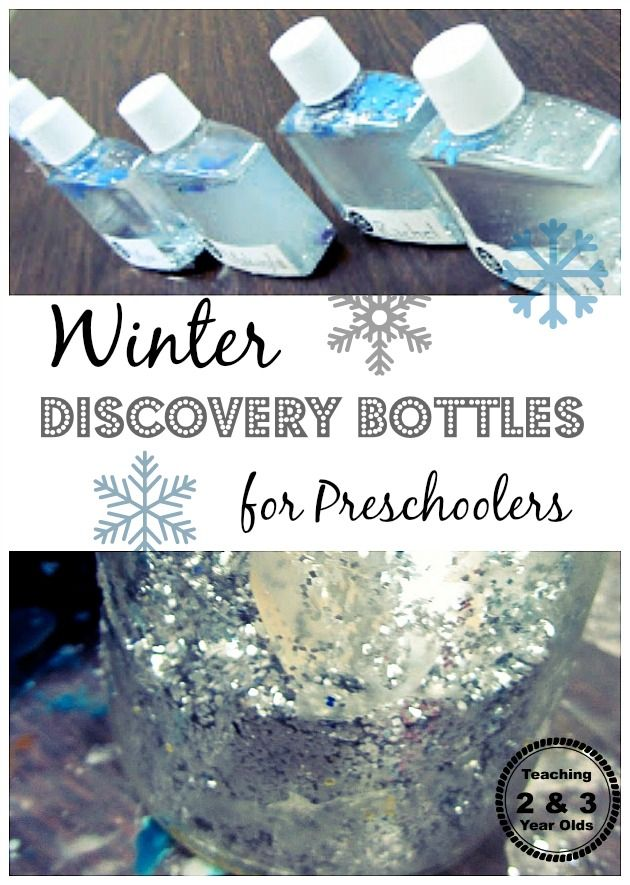 Winter discovery bottles - Teaching 2 and 3 Year Olds