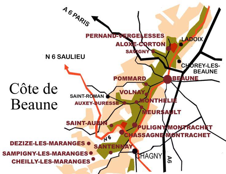 Cote de Beaune Burgundy appellations