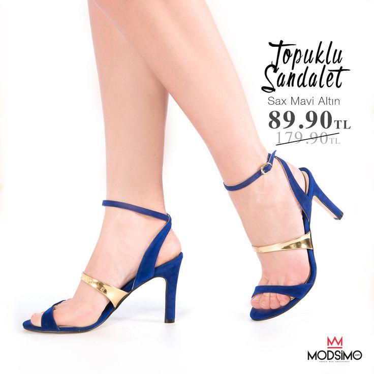 Sax Mavi Altın Topuklu Sandalet 89.90TL Hemen Tıkla! http://www.modsimo.com/epnn~u~sax-mavi-suet-altin-topuklu-ayakkabi-15901