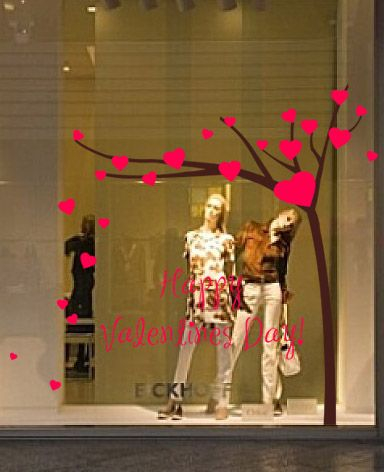 Valentines day window decals available from http crazysexycool co za