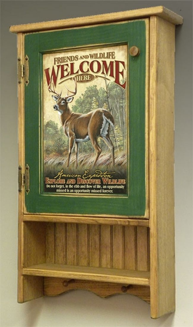 american expedition wall cabinet for hunting lodge decor