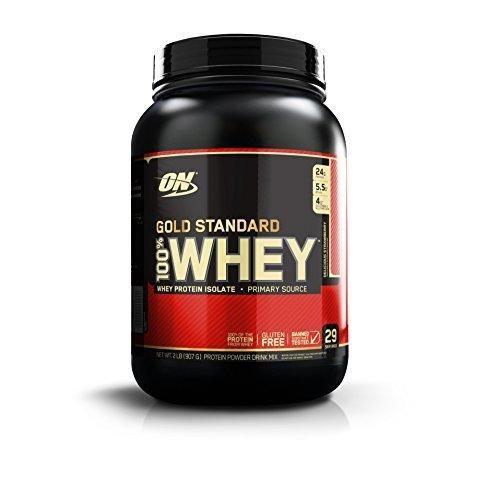 Optimum Nutrition Gold Standard 100% Whey Protein Powder Delicious Strawberry 2 Pound