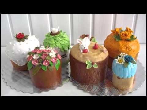 Красивые идеи, как украсить куличи на пасху - YouTube