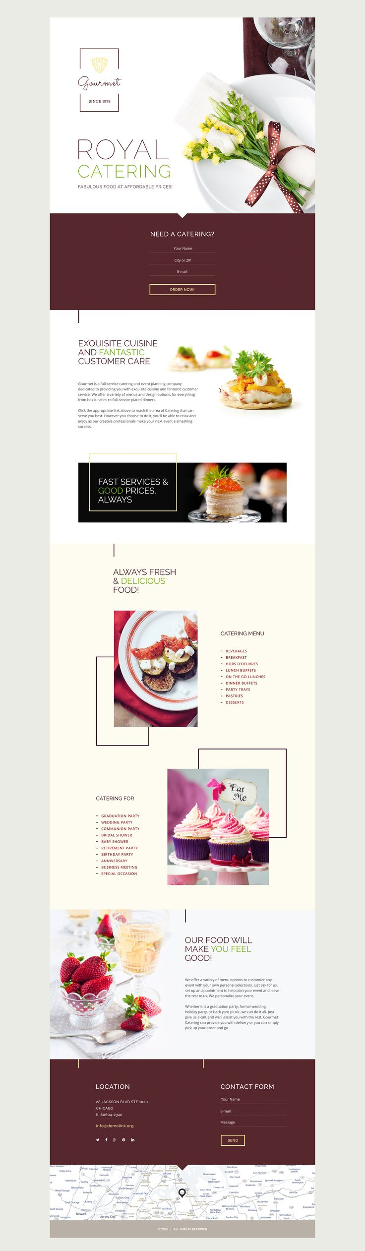 Catering Responsive Landing Page Template #58458 http://www.templatemonster.com/landing-page-template/catering-responsive-landing-page-template-58458.html