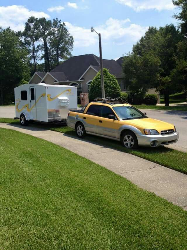 Subaru Baja and Travel Trailer!