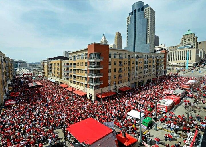 "Wow, great shot! ""Cincinnati Reds Opening Day!"""
