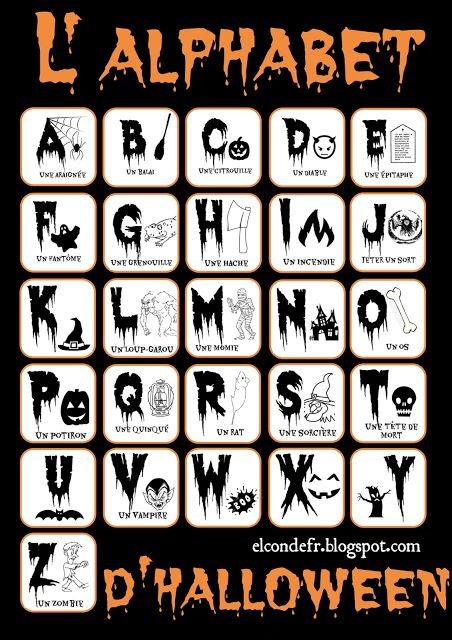 Halloween Alphabet Letter R Cat Witch Ryta: 83 Best Images About FLE: Halloween On Pinterest