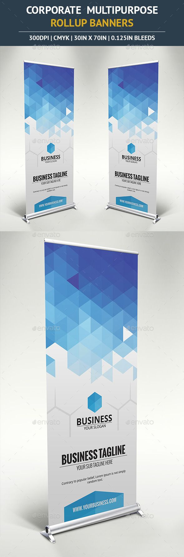Corporate Rollup Banner Template #design Download: http://graphicriver.net/item/corporate-rollup-banner-vol7/10390843?ref=ksioks