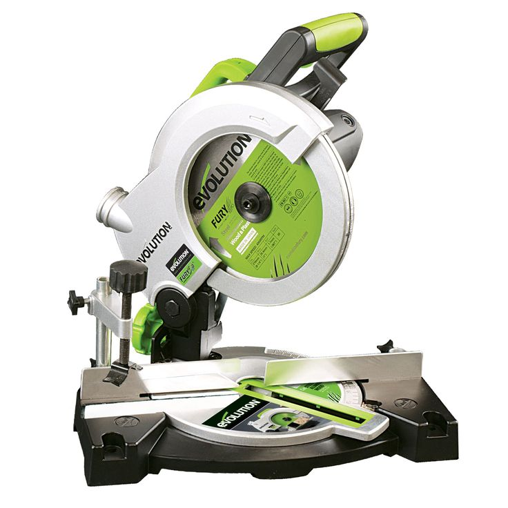 miter saw labeled. evolution 1100w 240v 210mm compound mitre saw fury3b miter labeled
