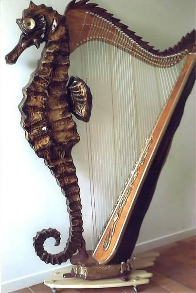 Seahorse Harp. Which is the main event here...the look or the music? Hard to tell...