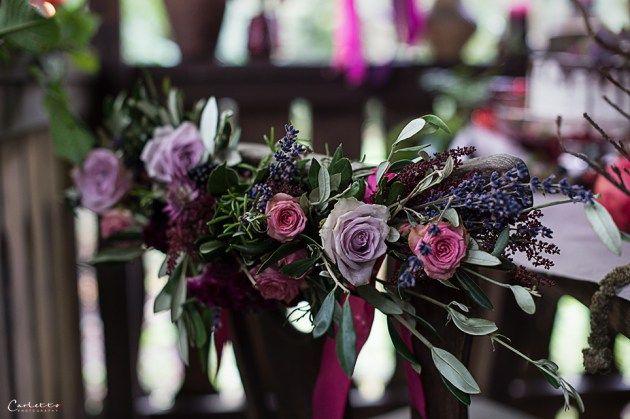 Herbst, violett, pruple decoration, fall, floral deoration, fall decor, floral garland