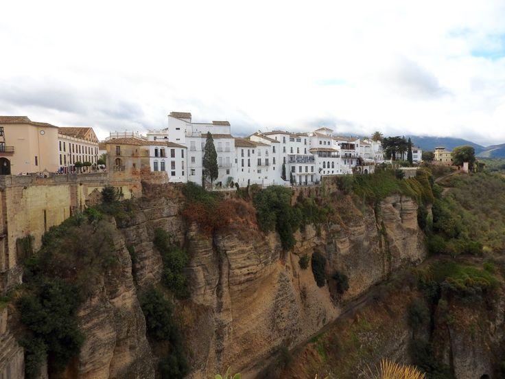 Ronda near Malaga, a town build on a cliff