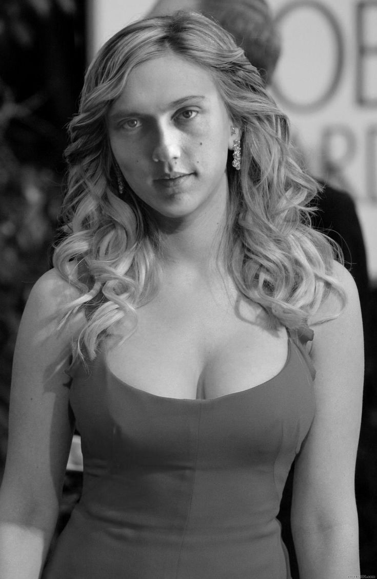 scarlett johansson with young christopher walken's face.