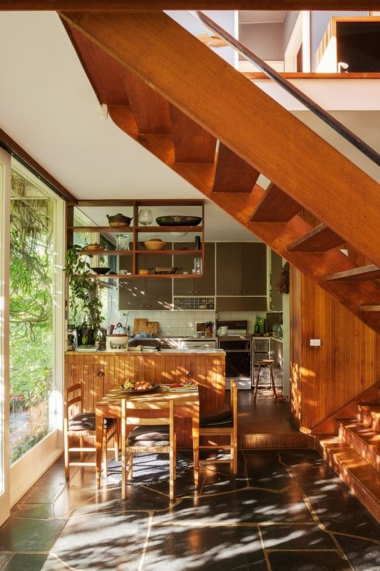 Designed in 1953 by Robin Boyd for Victor and Peggy Stone, this modest home in Melbourne's Eaglemont reflected the progressive attitudes of its owners.