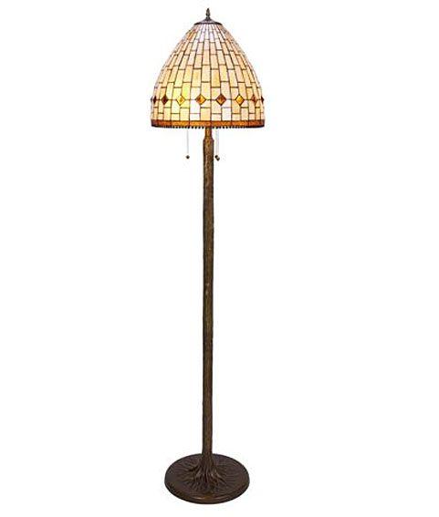 Lam Tiffany Pie Art   Material: Metal   Montura metalica color patine oscuro y contre pantalla Tiffany clasico.Bombilla 3xE27 MAX.60w. ... Eur:355 / $472.15
