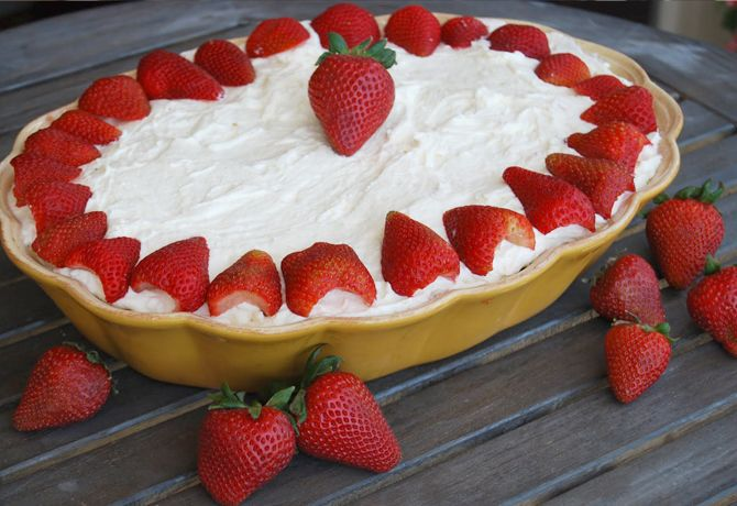 Strawberry Tiramisu-this is absolutely incredible-recipe from Giada-nice change of pace for Christmas desserts!