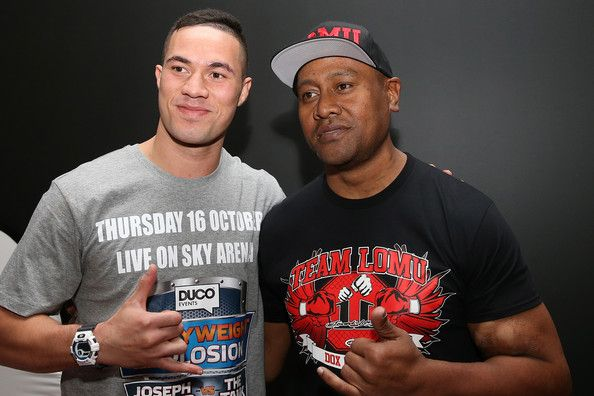 Jonah Lomu Photos - Joseph Parker (L) with former All Black Jonah Lomu (R) at the Joseph Parker v Sherman Williams Official Weigh In at Trusts Stadium on October 15, 2014 in Auckland, New Zealand. - Joseph Parker v Sherman Williams Weigh In